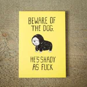 Regalo Biglietto DAuguri Shady Dog