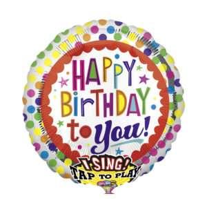 Idea regalo Palloncino a elio sonoro Happy birthday to you