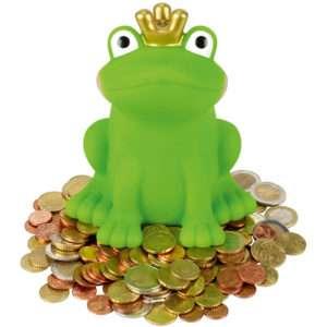 Idea regalo Spardose Froschkönig