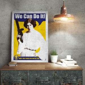 Regalo Poster di metallo Star Wars  Leia