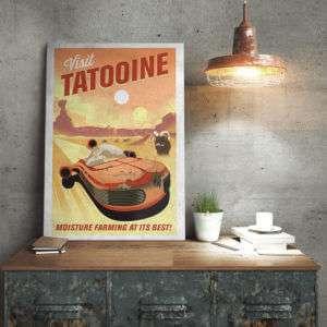 Regalo Poster di Metallo Star Wars – Tatooine