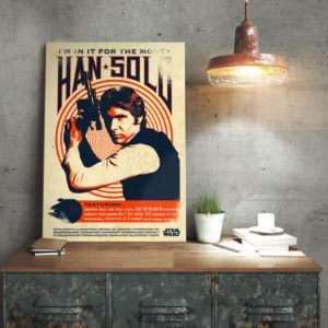 Regalo Poster di metallo Star Wars  Han Solo Retrò