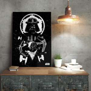 Regalo Poster di metallo Star Wars – Tie Fighter Vader
