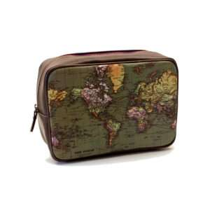 Idea regalo Beauty case vintage con mappa