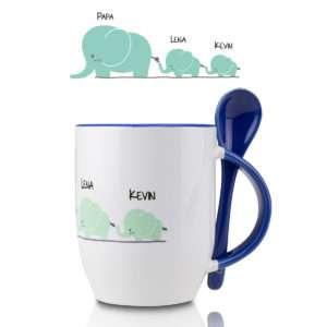 Idea regalo Tazza con porta cucchiaino – La famiglia degli elefanti