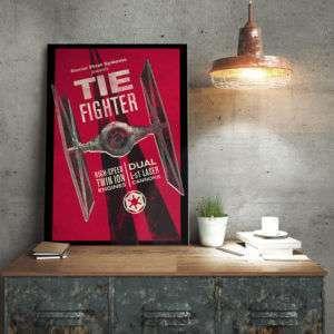 Regalo Poster di Metallo Star Wars  Tie Fighter