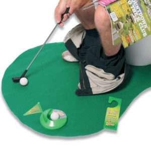 Idea regalo Set da golf per il bagno – Un perfetto sostituto del giornale