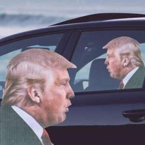 Idea regalo Adesivo per Auto Trump
