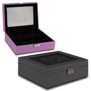 Idea regalo Scatola portagioie personalizzabile in due colori