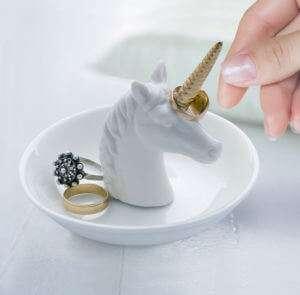 Regalo Svuota Tasche portagioie Unicorno