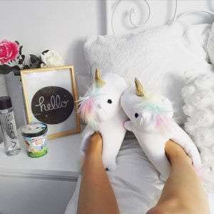 Regalo Pantofole Unicorno Luminose