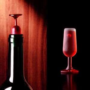 Regalo Stopper per vino a forma di bicchiere  set da 2