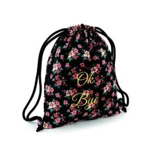 Idea regalo Zaino a sacchetto con motivo floreale personalizzabile