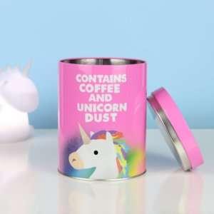 Idea regalo Barattolo per caffè Unicorno
