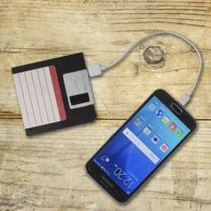 Idea regalo Batteria portatile Floppy Disk