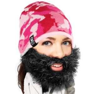 Regalo Cappello con barba cespuglioso mimetico rosa