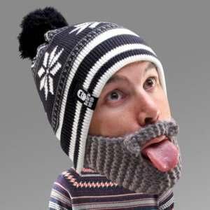 Idea regalo Cappello con Barba – Fiocco di Neve
