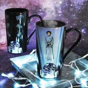Idea regalo Latte Mug termosensibile R2-D2 e Leila
