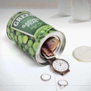 Idea regalo Lattina di piselli con nascondiglio
