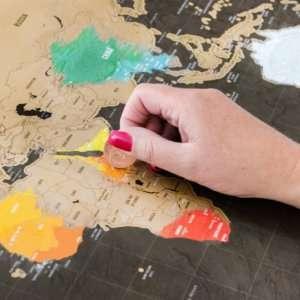 Regalo Mappa del mondo da grattare Deluxe
