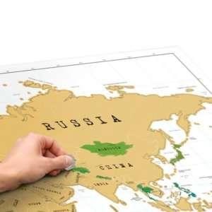 Regalo Mappa del mondo da grattare XL