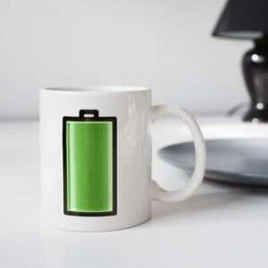 Regalo Mug Batteria Termosensibile