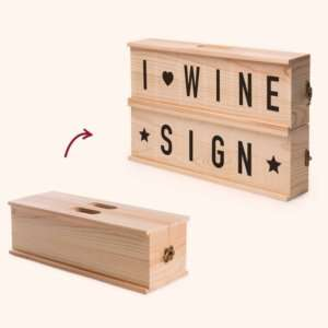 Regalo Porta vino Wine Sign Rackpack