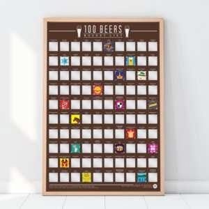 Idea regalo Poster 100 birre da provare