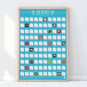 Regalo Poster 100 piatti da mangiare