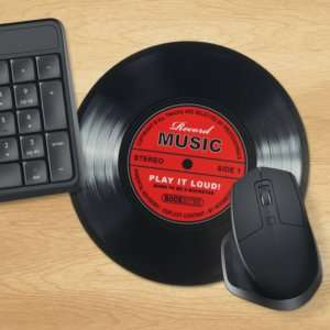 Idea regalo Tappetino per mouse Disco in vinile