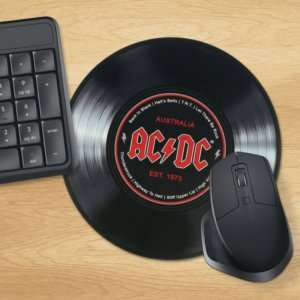 Idea regalo Tappetino per mouse Disco in vinile AC/DC