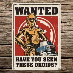 Regalo Targa Star Wars – Droidi