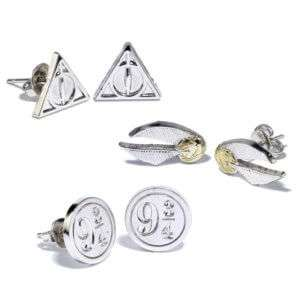 Idea regalo Tris di orecchini Harry Potter